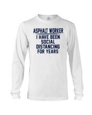 Asphalt worker Long Sleeve Tee thumbnail