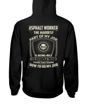 Special Shirt - Asphalt worker Hooded Sweatshirt thumbnail