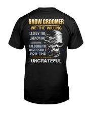 Snow Groomer Classic T-Shirt back