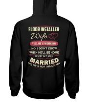 Floor installer wife Hooded Sweatshirt thumbnail