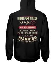 Concrete pupm operator Wife  Hooded Sweatshirt thumbnail