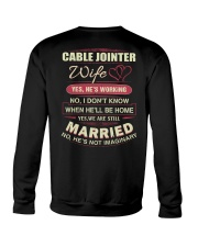 Cable jointer wife  Crewneck Sweatshirt thumbnail