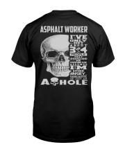 Special Shirt - Asphalt Worker Classic T-Shirt back