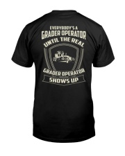 Grader operator Classic T-Shirt back