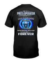 Special Shirt - Press Operator Classic T-Shirt back