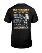 Snow Plow Operator Classic T-Shirt back