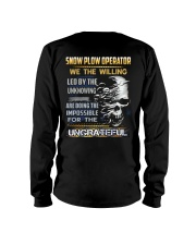 Snow Plow Operator Long Sleeve Tee thumbnail