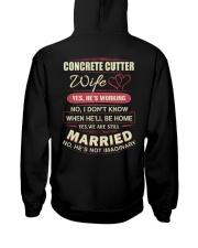 Concrete Cutter wife  Hooded Sweatshirt thumbnail