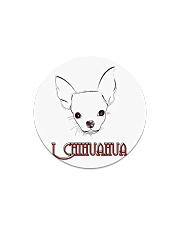 I chihuahua  Circle Magnet thumbnail