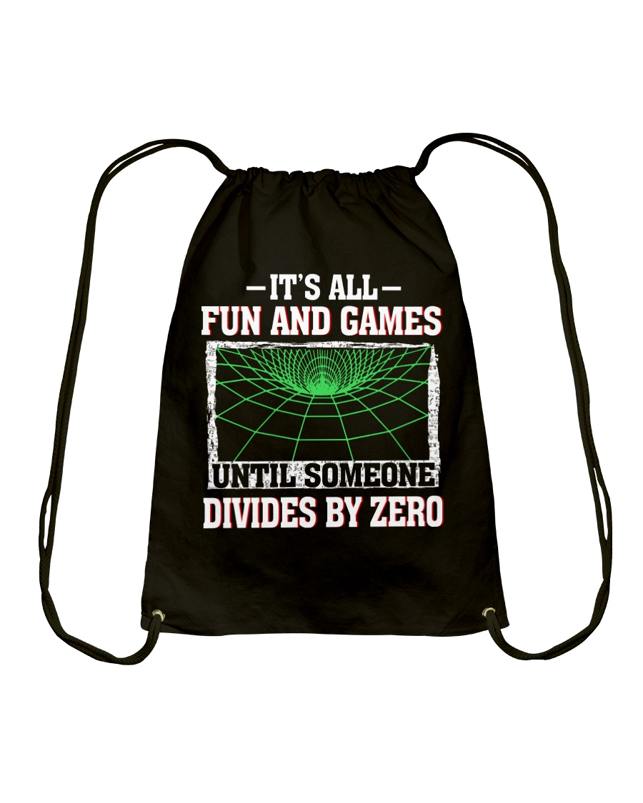 IT'S ALL FUN AND GAMES Drawstring Bag