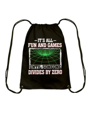 IT'S ALL FUN AND GAMES Drawstring Bag front