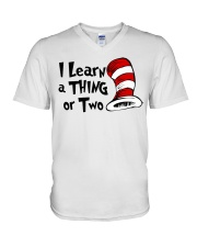 I Learn a THING or Two V-Neck T-Shirt thumbnail