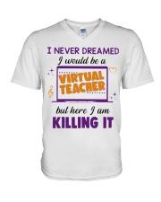 Virtual Teacher V-Neck T-Shirt thumbnail