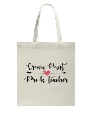 Crown point Pre-K Teacher Tote Bag tile