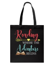 Reading where the Adventure begins Tote Bag thumbnail