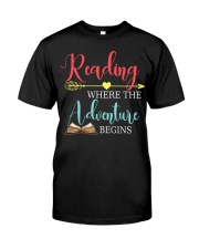 Reading where the Adventure begins Classic T-Shirt front