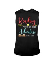Reading where the Adventure begins Sleeveless Tee thumbnail