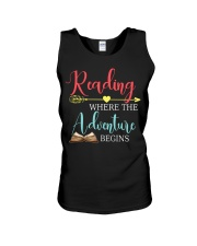 Reading where the Adventure begins Unisex Tank thumbnail