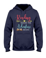 Reading where the Adventure begins Hooded Sweatshirt thumbnail