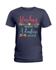 Reading where the Adventure begins Ladies T-Shirt thumbnail