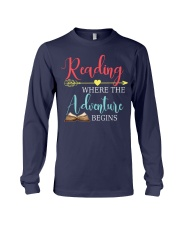 Reading where the Adventure begins Long Sleeve Tee thumbnail