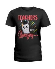 Teachers are llamazing Ladies T-Shirt front