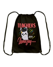 Teachers are llamazing Drawstring Bag thumbnail