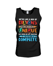 WE'RE LIKE A BOX OF CRAYONS EACH ONE OF US Unisex Tank thumbnail