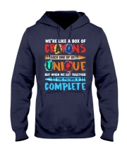 WE'RE LIKE A BOX OF CRAYONS EACH ONE OF US Hooded Sweatshirt thumbnail