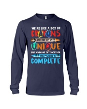 WE'RE LIKE A BOX OF CRAYONS EACH ONE OF US Long Sleeve Tee thumbnail
