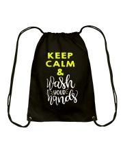 Keep calm and wash your hands Drawstring Bag thumbnail