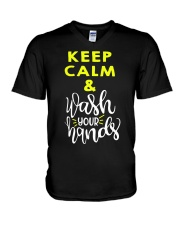 Keep calm and wash your hands V-Neck T-Shirt thumbnail