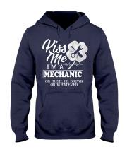 Kiss me i'm a Mechanic Hooded Sweatshirt thumbnail
