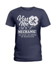 Kiss me i'm a Mechanic Ladies T-Shirt thumbnail