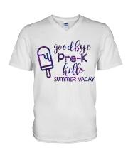 Goodbye Pre-k hello summer vacay  V-Neck T-Shirt thumbnail