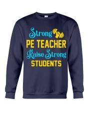 Strong Pe Teacher raise strong students Crewneck Sweatshirt thumbnail