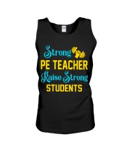 Strong Pe Teacher raise strong students Unisex Tank thumbnail