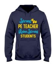 Strong Pe Teacher raise strong students Hooded Sweatshirt thumbnail