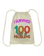 I SURVIVED 100 DAYS OF PROBLEMS Drawstring Bag thumbnail
