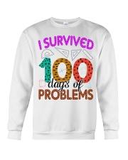 I SURVIVED 100 DAYS OF PROBLEMS Crewneck Sweatshirt thumbnail