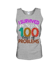 I SURVIVED 100 DAYS OF PROBLEMS Unisex Tank thumbnail