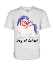 100th Day Of School V-Neck T-Shirt thumbnail