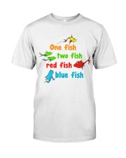 One fish two fish red fish blue fish Classic T-Shirt thumbnail