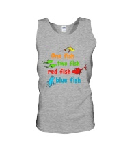 One fish two fish red fish blue fish Unisex Tank thumbnail
