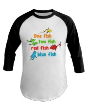 One fish two fish red fish blue fish Baseball Tee tile