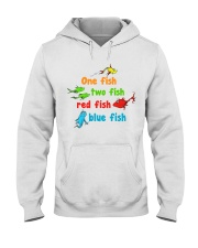 One fish two fish red fish blue fish Hooded Sweatshirt thumbnail