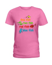 One fish two fish red fish blue fish Ladies T-Shirt thumbnail