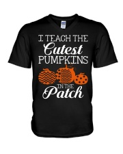 I Teach the cutest pumpkins in the patch V-Neck T-Shirt thumbnail
