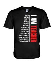 I Am Teacher V-Neck T-Shirt thumbnail