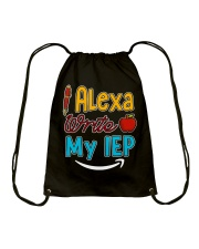 Alexa write my IEP Drawstring Bag thumbnail